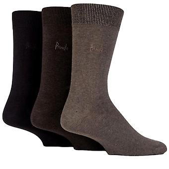 Pringle Endrick chaussettes 3 Pack Brown