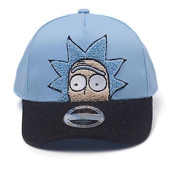 Rick et Morty Cap Rick chenille 2D broderie courbe Bill-bleu (BA513854RMT)