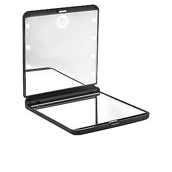 Beter Espejo Oh! Lichte Touch tweepersoons plegable con Luz LED #negro Unisex