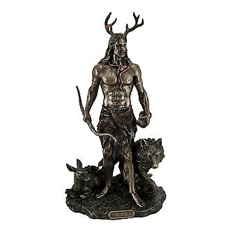 Herne the Spirit Hunter of Windsor Forest Standing With Deer and Wolf