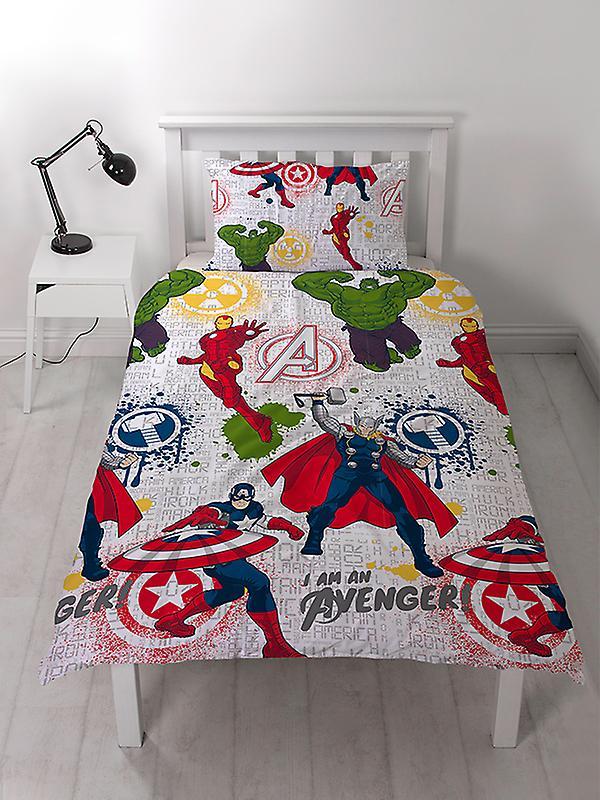 Marvel Avengers Mission Duvet Cover Set - Rotary Design