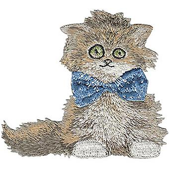 Patch - C&D - Animal Club Scruffy Cat Iron-On New Gifts Toys p-4567