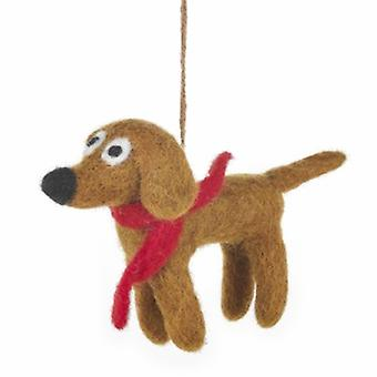 Felt Jasper The Dog Hanging Decoration| Gifts From Handpicked