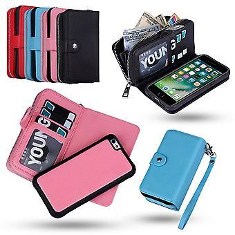 Iphone 6/6 s Brieftasche Fall & magnetische Schale mit Reißverschluss