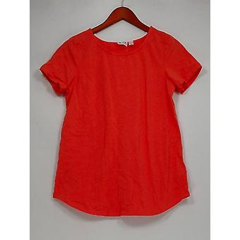 Frauen mit Kontrolle Frauen's Top Essentials Tee Orange A301362