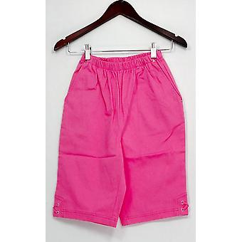 Denim & Co. Shorts Classic Waist Side Lace-Up Bermuda Pink A233552