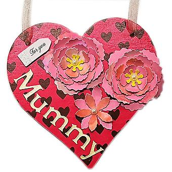 Mother's Day Hanging Heart Wall Plaque by Lilypond Crafts