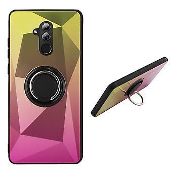Bagcover ring/magnet Aurora Huawei Mate 20 Lite guld + pink