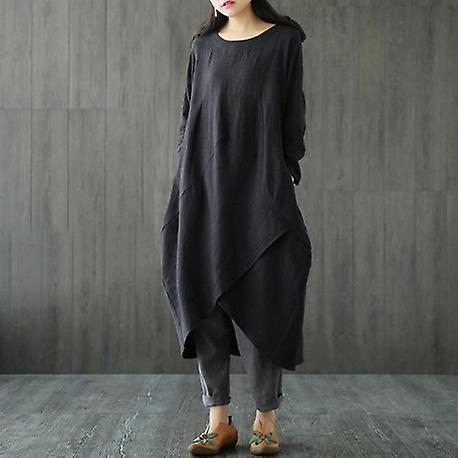 Long Sleeve Casual Oversize Long Dress