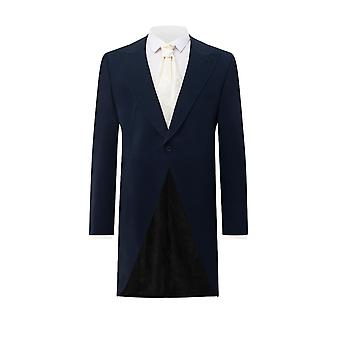 Dobell Mens Navy 2 Piece Morning Suit with Matching Trousers Regular Fit