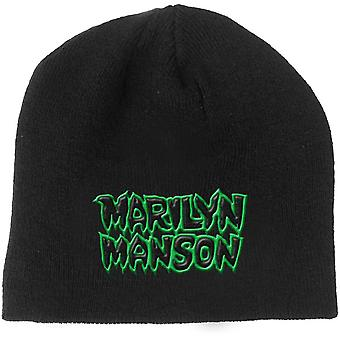 Marilyn Manson Beanie Hat Band Logo say10 new Official Black