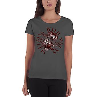 Sleeping With Sirens T Shirt For The Birds Official Womens New Grey Skinny Fit