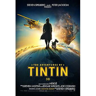 As aventuras de Tintin o segredo do poster do unicórnio dupla face Advance (2011) poster original do cinema