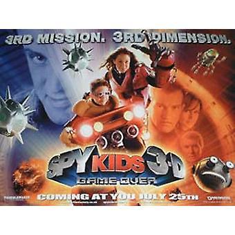 Spy lapset 3D-peli over (kaksipuolinen Advance) alkuperäinen elokuva julisteet