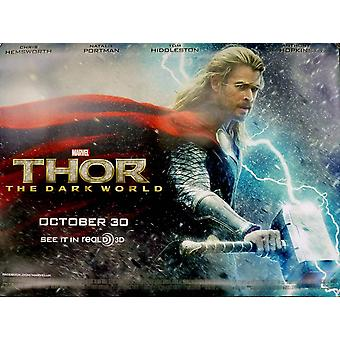 Thor The Dark World Poster Double Sided Advance Quad (2013) Original Cinema Poster