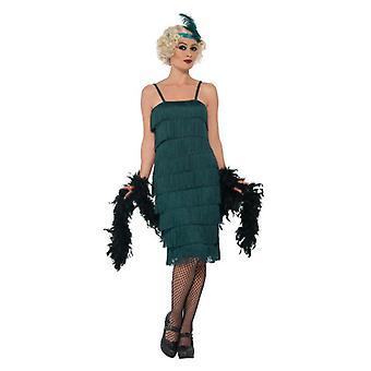 Womens/Petrol Grün der 1920er Jahre Flapper Kostüm