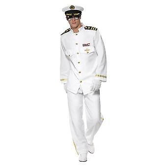 Mens kapitein Deluxe Fancy Dress kostuum