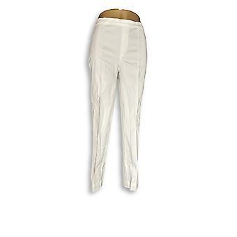 Isaac Mizrahi Live! Women's Pants 24/7 Stretch White A289789