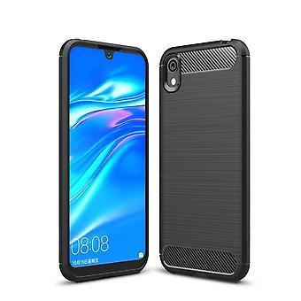 Huawei Y5 2019/Huawei Honor 8S Carbon Fiber textuur shell-zwart