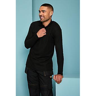 UNEEK Uneek Long Sleeved Polo, Black