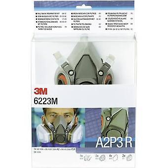 3M 6223 M DE272917373 Demi masque respirateur réglé A2P3 R Taille (XS - XXL): Uni