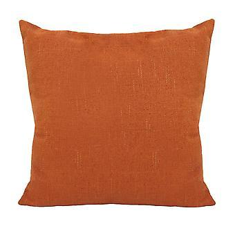 Orange Tweed Pillow