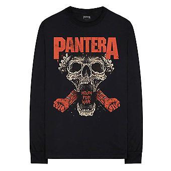 Pantera T Shirt Mouth For War Band Logo new Official Mens Black Long Sleeve