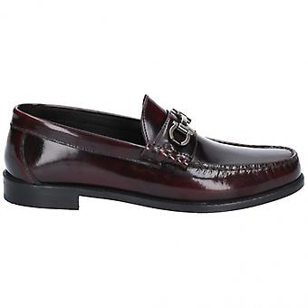 Base London caliber Hei Shine menns skinn slip on sko bordo