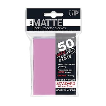 Pro-matte D12 standaard 50ct roze dek beschermers (Pack van 12)
