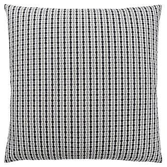 "18"" x 18"" Light Grey/Black, Abstract Dot - Pillow"