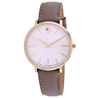 Movado Mujeres's Ultra Slim Pink Dial Watch - 607374