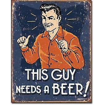 Denne fyren må en øl metall tegn
