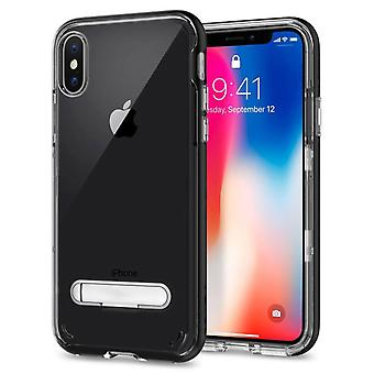 Case Kickstand for Apple iPhone X - XS Transparent Black