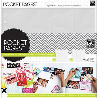 """Me & My Big Ideas Pocket Pages Protectors 12""""X12"""" 12/Pkg-Assortment #2"""