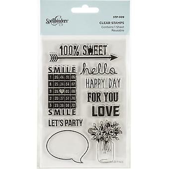 Spellbinders 100% Sweet Sentiments Clear Stamps