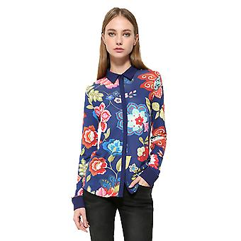 Desigual Women's Floral Circular ML Shirt Top