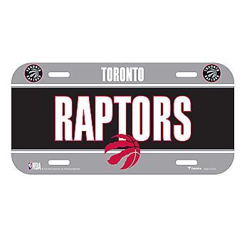 Plaque d'immatriculation de fanatiques NBA - Toronto raptors