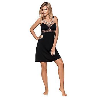 Nipplex kvinder ' s Livia sort og nøgen broderet ikke-polstret ikke-Wired natkjole med kjole