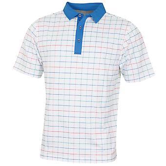 Bobby Jones Mens XH20 Creed Printed Multi Grid Golf Polo Shirt
