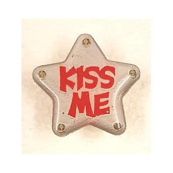 Knipperende ster Badge - Kiss Me