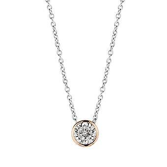 Ti Simões cintilantes luzes 3845ZR-42 - colar dinheiro e dor fechada mulher de colar rosa de óxido de zircônio de costura