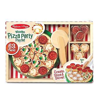 Childrens Melissa og Doug træ Pizza spil sæt 3 + år