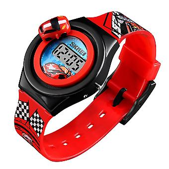 Skmei Children Kids Digital Watch Girls Boys Basic Time Date Revolving Car