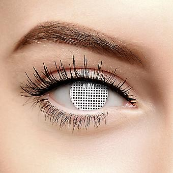 White Mesh Halloween Coloured Contact Lenses (30 Day)