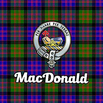 Art2Glass Tartan Clan Coaster - Macdonald
