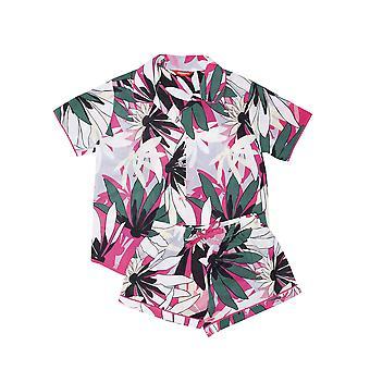 Minijammies 5534 Girl's Layla Pink Floral Print Cotton Pyjama Short Set
