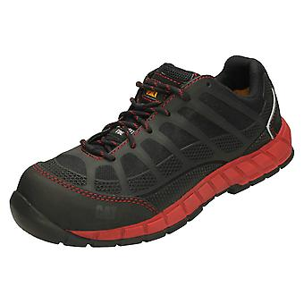 Mens Caterpillar Lace Up Safety Shoes Streamline CT S1P