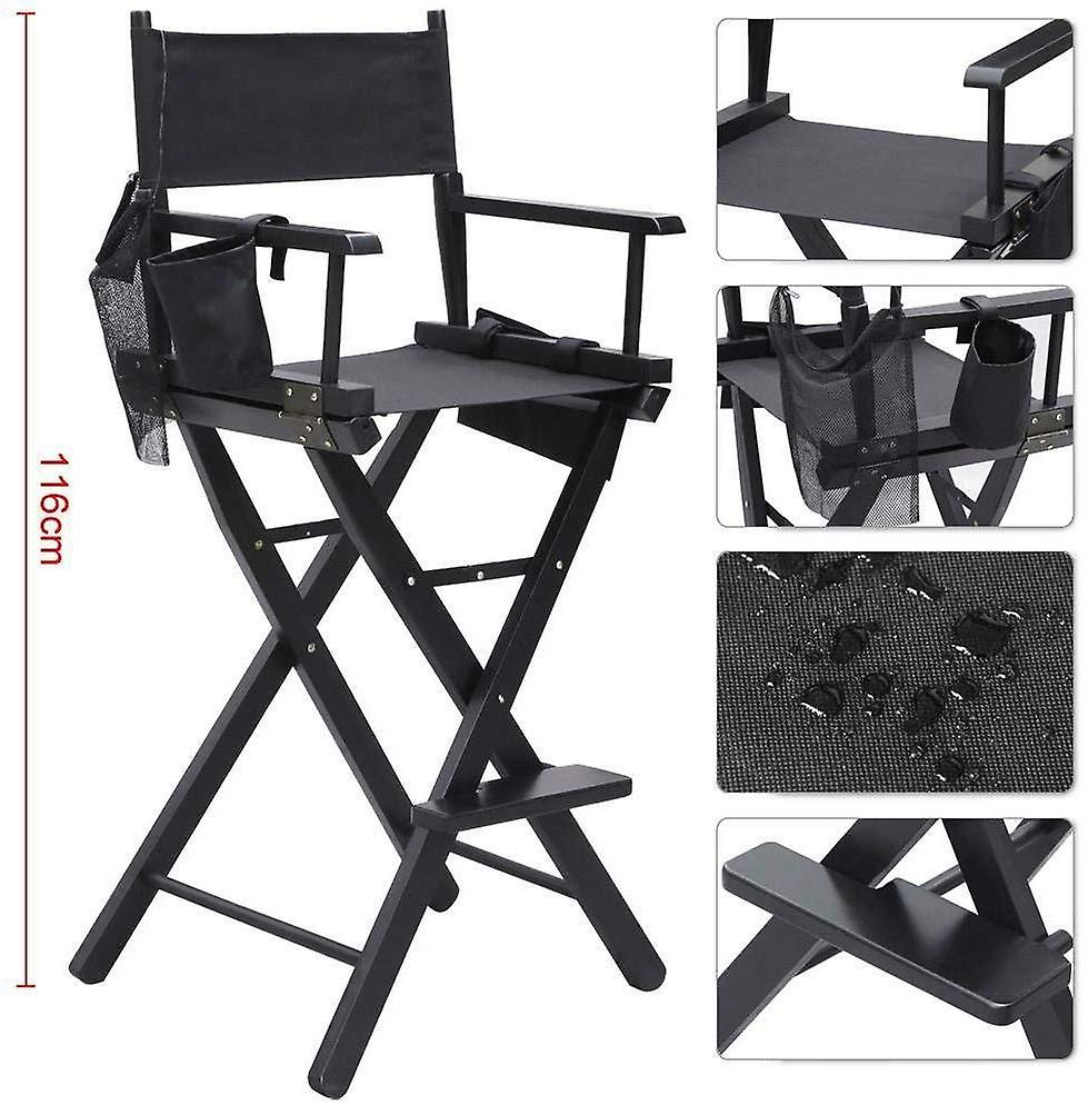 Heavy Duty Folding Telescope Makeup Telescopic Artist Director Chair Wood Foldable with side bags