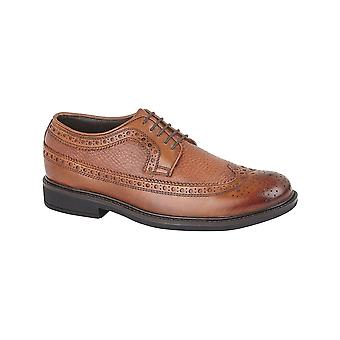 Roamers Brown Leather Full Fitting 5 Eye Lace Gibson Shoe
