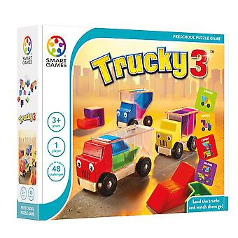SmartGames Trucky 3 One Player Puzzle Game Ages 3-8 ans